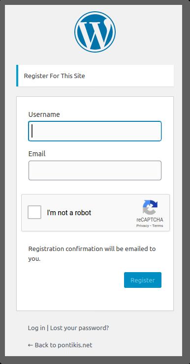 Stop WordPress Spam Registration - Recaptcha