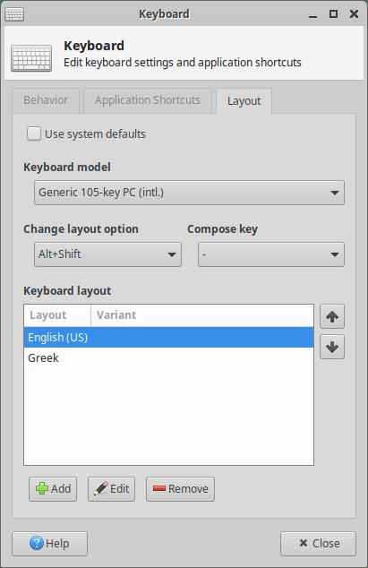 Xubuntu 20.04 keyboard layouts