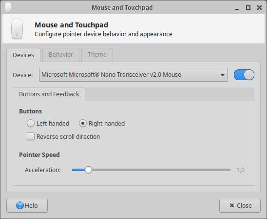 Xubuntu 20.04 Mouse speed