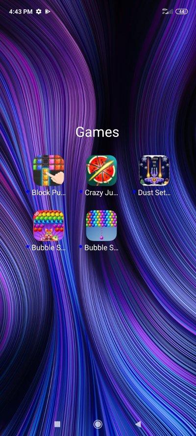 Main screen 2 - Group Games