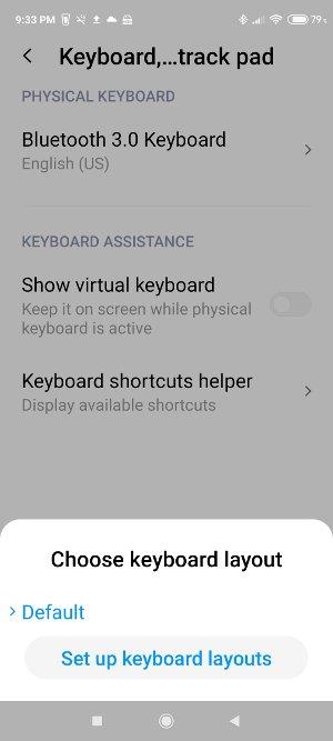 MI physical keyboard