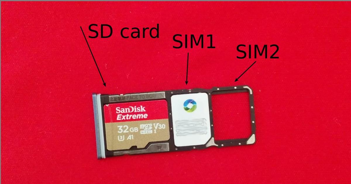 Xiaomi Redmi Note 9 Pro - SIM & SD card