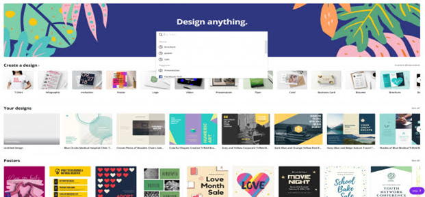 Infographic with Canva - Browse the layouts