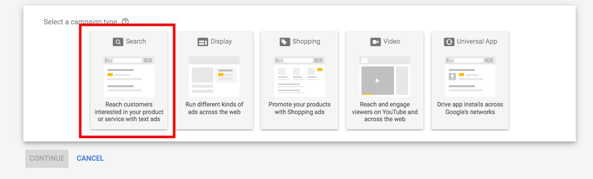 Campaign Type Google Ads